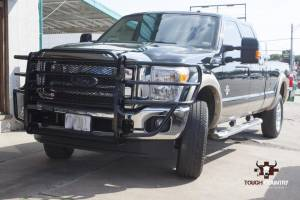 Tough Country - Tough Country Standard Brush Guard with Expanded Metal, Ford (2011-16) F-250 & F-350 Super Duty