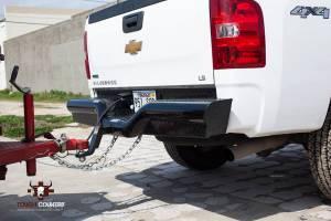 Brush Guards & Bumpers - Rear Bumpers - Tough Country - Tough Country Custom Deluxe Rear, Chevy/GMC (2011-14) 2500 & 3500 Silverado & Sierra