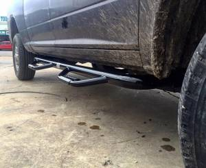 Nerf Bars & Steps - Nerf Steps - Tough Country - Tough Country Deluxe Cab Length 4 Step Bars, Chevy/GMC (1999-13) 1500, 2500 & 3500 4 Door Silverado/Sierra