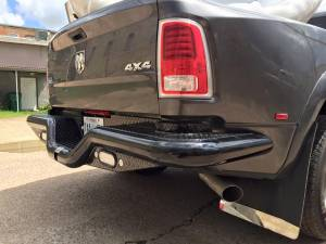 Brush Guards & Bumpers - Rear Bumpers - Tough Country - Tough Country Custom Dually Deluxe Rear, Dodge (2010-17) 3500 Ram Mega Cab