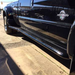 Nerf Bars & Steps - Running Boards - Tough Country - Tough Country Deluxe Full Length Dually Running Boards, Ford (2008-16) F-350 CC/LB Super Duty