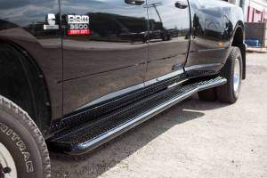 Nerf Bars & Steps - Running Boards - Tough Country - Tough Country Deluxe Full Length Dually Running Boards, Dodge (2010-19) 3500 4 Door Ram