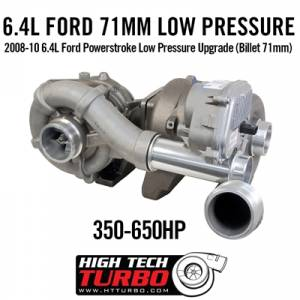 High Tech Turbo - High Tech Turbo Low Pressure Turbo Upgrade, Ford (2008-10) 6.4L Power Stroke(Billet 71MM) - Image 2