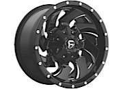 "Fuel Offroad - Fuel Offroad 8x170, 18""x9"" Cleaver, Black Milled Finish (-12 Offset)"