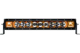 "Off-Road Lighting - Single Row LED Light Bars - Rigid Industries - Rigid Industries, 20"" Radiance-Series LED Light Bar, Broad Spot (Amber Backlight)"