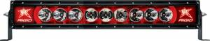 "Off-Road Lighting - Single Row LED Light Bars - Rigid Industries - Rigid Industries, 20"" Radiance-Series LED Light Bar, Broad Spot (Red Backlight)"
