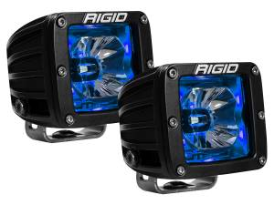 Off-Road Lighting - Cube LED Lights - Rigid Industries - Rigid Industries Pod, Radiance LED Light - Blue