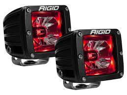Off-Road Lighting - Cube LED Lights - Rigid Industries - Rigid Industries Pod, Radiance LED Light - Red