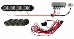 Off-Road Lighting - LED Lights - Rigid Industries - Rigid Industries, A-Series Rock Light Kit - Red (4-Light)