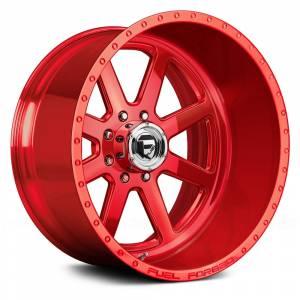 """8x180 Lug Wheels - 24 Inch Wheels - Fuel Offroad - Fuel Forged  24""""x14"""" FF09, Polished"""
