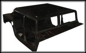 Advanced Vehicles Assembly - AVA Complete Humvee Hard Top with Roll Cage, 4 Door Truck Bed Back - Image 2