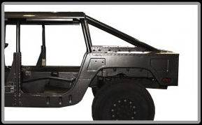 Advanced Vehicles Assembly - AVA Complete Humvee Hard Top with Roll Cage, 4 Door Truck Bed Back - Image 5