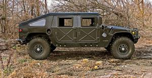 Humvee Parts - Humvee Roof Kits - Advanced Vehicles Assembly - AVA Complete Humvee Hard Top with Roll Cage, 4 Door Slant Back & Truck Bed Combo Kit