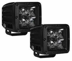 Off-Road Lighting - Cube LED Lights - Rigid Industries - Rigid Industries Pod, D-Series Pair, Spot, Midnight Edition