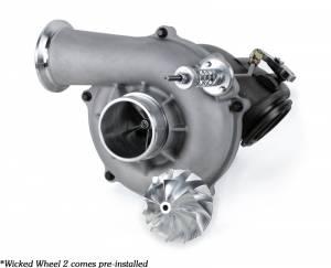 DieselSite - DieselSite Wicked Ball Bearing Turbo, Ford (1999) 7.3L Power Stroke, 66mm Wicked Wheel