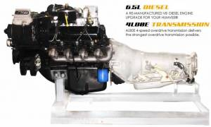 Advanced Vehicles Assembly - AVA Complete Humvee Powertrain Upgrade Kit, 6.5L Non-Turbo & 4L80E, Pull Out