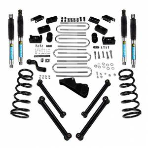 "Superlift - Superlift Suspension Lift Kit, Dodge (2003-08) 2500/3500 Diesel 4x4, 4"" With Bilstein Shocks"