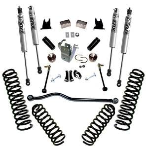 "Steering/Suspension Parts - 4"" Lift Kits - Superlift - Superlift Suspension Lift Kit, Jeep (2007-17) Wrangler JK 4-Door With Fox Shocks"