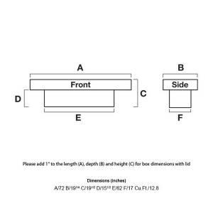 "UWS Tool Boxes - UWS Truck Tool Box, 72""L x 19.25""W x 19.5""H Aluminum Diamond Plate, Gull Wing Lid, Deep - Image 2"