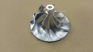 AVP - AVP Billet Turbo Compressor Wheel, Ford (2005-07) 6.0L Power Stroke, Stage 1 (6+6 Blade)