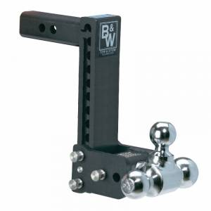 "2"" Hitches - Drop Hitches - B&W Trailer Hitches - B&W Tow & Stow 2"" Receiver Hitch, Model 12 (9"" drop - 9.5"" rise) 1-7/8"" x 2"" x 2-5/16"""