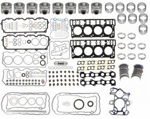 Engine Gaskets & Seals - Engine Overhaul Kits - Mahle - MAHLE Clevite Overhaul Kit, Ford (2003-04) 6.0L Powerstroke (18mm Dowels), 0.00 Standard Size Pistons