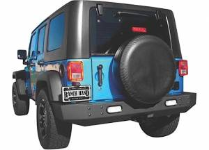 Ranch Hand - Ranch Hand Horizon Series Rear Bumper, Jeep (2007-17) Wrangler JK, For Spare Tire Kit (Matte Finish)