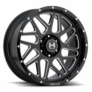 "8x6.5 Lug Wheels - 20 Inch Wheels - Fuel Offroad - Hostile 8x6.5, 20""x10"" Sprocket, Blade Cut (-19 Offset)"