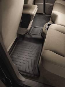Weather Tech Rear Floorliners, Cadillac/Chevy/GMC (2007-14) Tahoe/Suburban/Yukon XL, Rear 2nd Row, Black