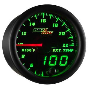 "2-1/16"" Gauges - MaxTow White Double Vision Series - MaxTow Gauges - MaxTow Double Vision Pyrometer Gauge, 2200*"