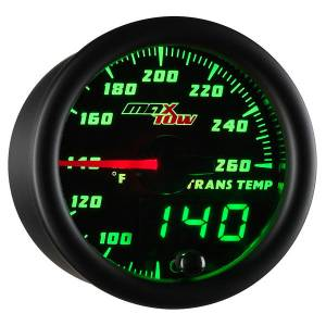 "2-1/16"" Gauges - MaxTow White Double Vision Series - MaxTow Gauges - MaxTow Double Vision Transmission Temp Gauge, 260*"