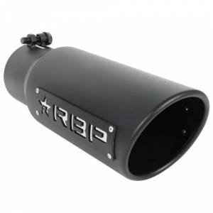 """Rolling Big Power - RBP RX-1 4"""" Inlet to 4"""" Outlet - 18"""" Long Dual Badged (Black/ White Star) - Image 2"""