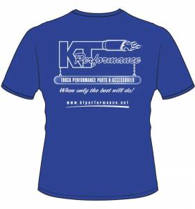 Apparel - KT Performance T-Shirts - KT Performance T-Shirt, Blue (4X-Large)