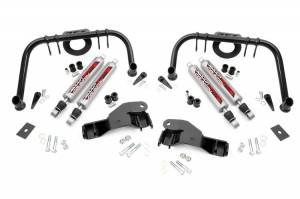 "Steering/Suspension Parts - Steering Upgrades - Rough Country - Rough Country Dual Shock Kit, Ford (2005-07) F-250/F-350 (6"" Lift Application)"