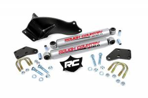 Rough Country - Rough Country Dual Steering Stabilizer Kit, Dodge (2013-18) 2500/3500, 4wd
