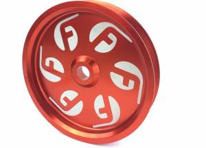 Fuel Injection Parts - Fuel System Misc. Parts - Fleece - Fleece Performance Dual Pump Pulley, Dodge (2010-17) 6.7L (Red)