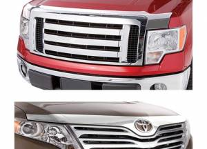 Exterior Accessories - Bug Guards/Hood Shields - AVS - AVS Aeroskin Acrylic Hood Protector, Dodge (2009-17) Ram 1500, Chrome