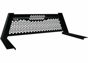 Exterior Accessories - Headache Racks - Highway Products - Highway Products Honeycomb Headache Rack, Size 2 (Smooth Black)