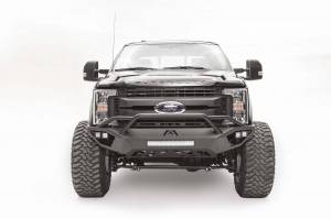 Brush Guards & Bumpers - Front Bumpers - Fab Fours - Fab Fours Vengeance Front Bumper, Ford (2017-18) F-250/F-350, With Prerunner Bar