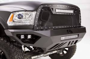 Brush Guards & Bumpers - Front Bumpers - Fab Fours - Fab Fours Vengeance Front Bumper, Dodge (2010-18) 2500-3500