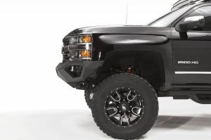 Brush Guards & Bumpers - Front Bumpers - Fab Fours - Fab Fours Vengeance Front Bumper, Chevy (2015-18) 2500/3500