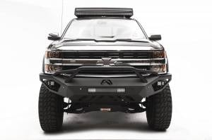 Brush Guards & Bumpers - Front Bumpers - Fab Fours - Fab Fours Vengeance Front Bumper, Chevy (2015-18) 2500/3500, With Prerunner Bar
