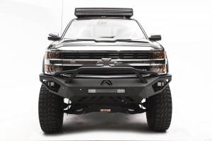 Brush Guards & Bumpers - Front Bumpers - Fab Fours - Fab Fours Vengeance Front Bumper, Chevy (2011-14) 2500/3500, With Prerunner Bar