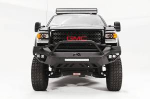 Brush Guards & Bumpers - Front Bumpers - Fab Fours - Fab Fours Vengeance Front Bumper, GMC (2015-18) 2500/3500, With Prerunner Bar