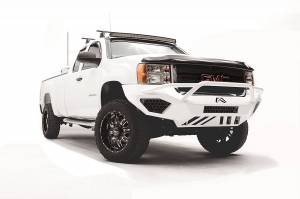 Fab Fours - Fab Fours Vengeance Front Bumper, GMC (2011-14) 2500/3500, With Prerunner Bar (Black Powdercoat) - Image 2