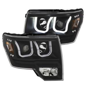 Anzo - Anzo Projector Headlight, Ford (2009-14) F-150 (Black Housing/ Clear Lens) - Image 2
