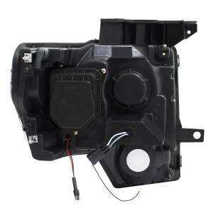 Anzo - Anzo Projector Headlight, Ford (2009-14) F-150 (Black Housing/ Clear Lens) - Image 3