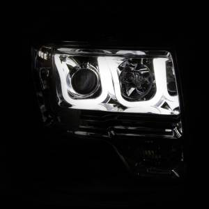 Anzo - Anzo Projector Headlight, Ford (2009-14) F-150 (Chrome Housing/ Clear Lens) - Image 2