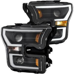 Lighting - Headlights/Driving Lamps - Anzo - Anzo Projector Headlight, Ford (2015-17) F-150 (Black Housing/ Clear Lens)