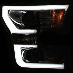 Anzo - Anzo Projector Headlight, Ford (2015-17) F-150 (Black Housing/ Clear Lens) - Image 2